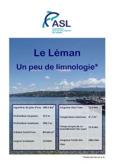 Le Léman: Un peu de limnologie